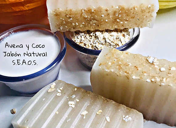 Avena y coco - Jabón Exfoliante