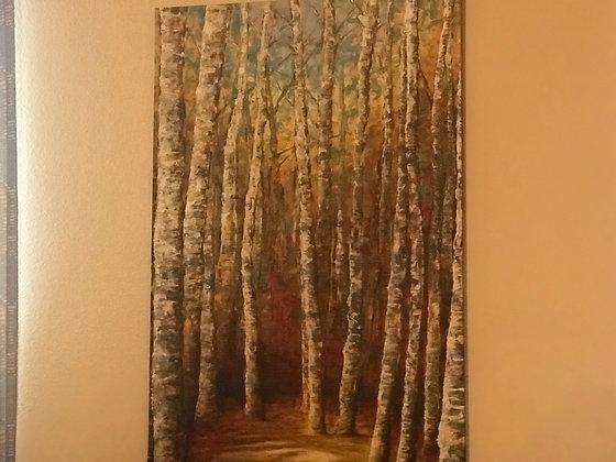 """Troncos árboles Canvas cuadro 18""""x24"""""""