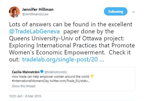 TradeLab Projects on Trade and Gender