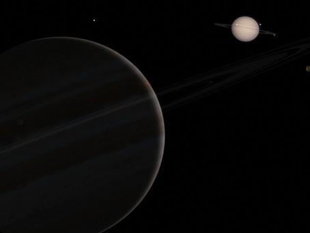 """Die """"Große Konjunktion"""" von Jupiter und Saturn"""