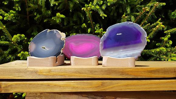 Teelichthalter mit Achatscheibe