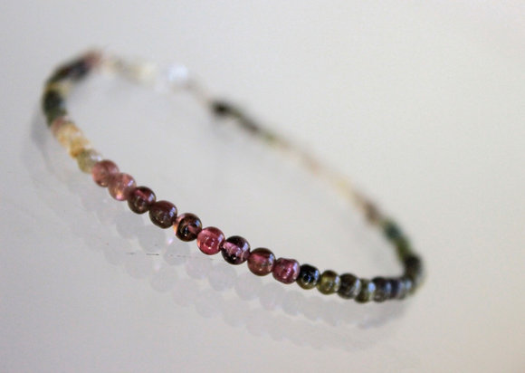 Farbenfrohes Turmalin Armband