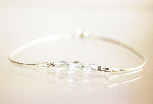 Silber-Armkette mit Aquamarin