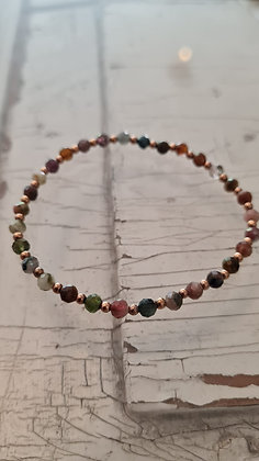 Armband mit facettierten Regenbogenturmalinen