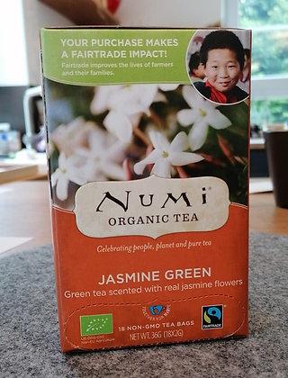 Grüner Tee mit echten Jasminblüten - fair trade & bio