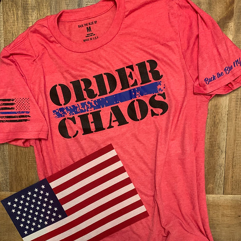 Heather Red Order/Chaos Tee