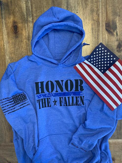 Heather Royal Blue Honor the Fallen Hoodie