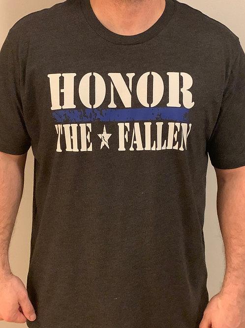 Honor the Fallen Heather Black Tee