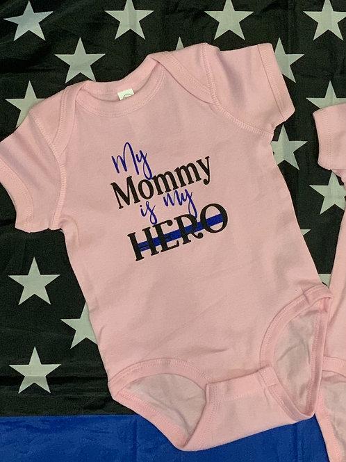 My Mommy is My Hero Onesie-Black Text