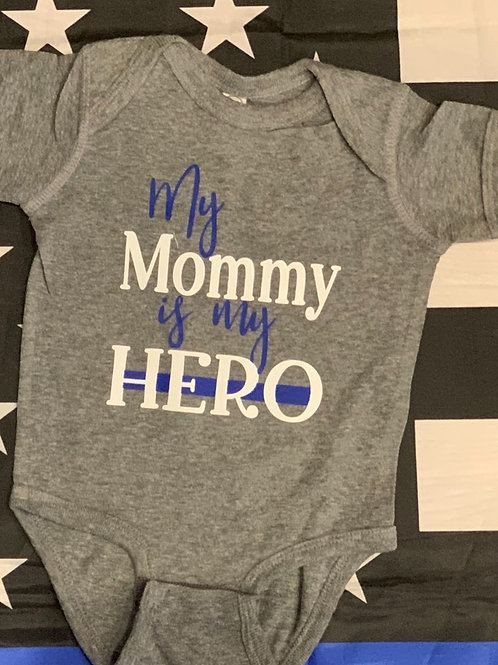 My Mommy is My Hero Onesie-White Text