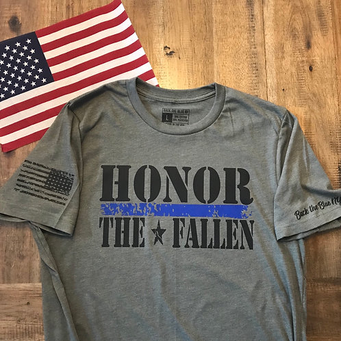 Military Green Honor the Fallen blue line