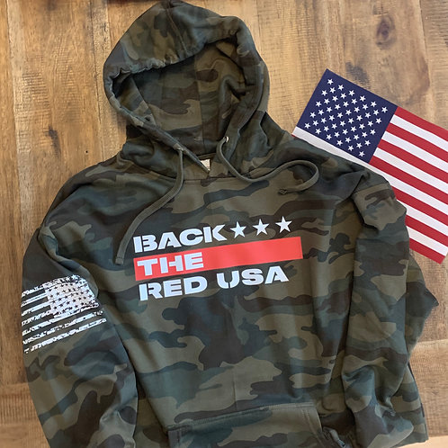 Back the Red Camo Hoodie