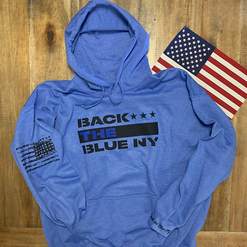 Heather Royal Back the Blue NY Mission Hoodie