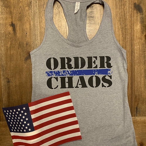 Order/Chaos Women's Racer Back Tank