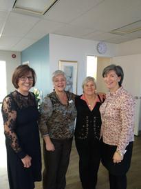 Teresa (Board Member), Leslie (Board Chair), Margarete (Past Chair) & Sheila (Staff)