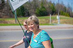 Leading the Hike for Hospice