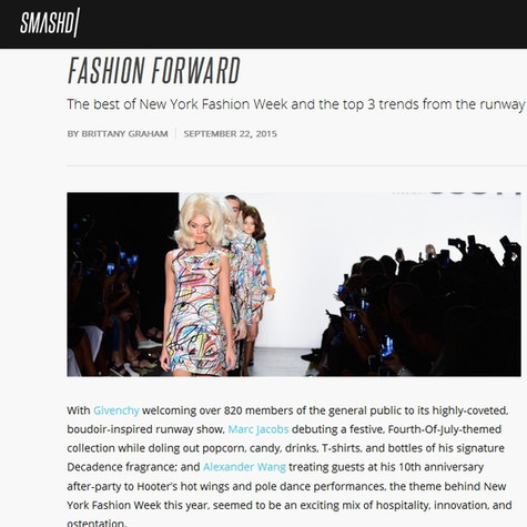 NYFW: Fashion Forward