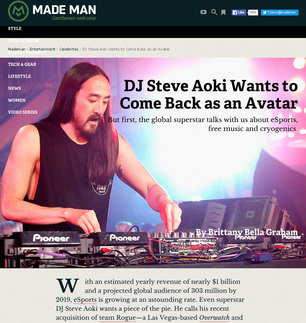 Ateve Aoki Wants to Come Back as an Avatar