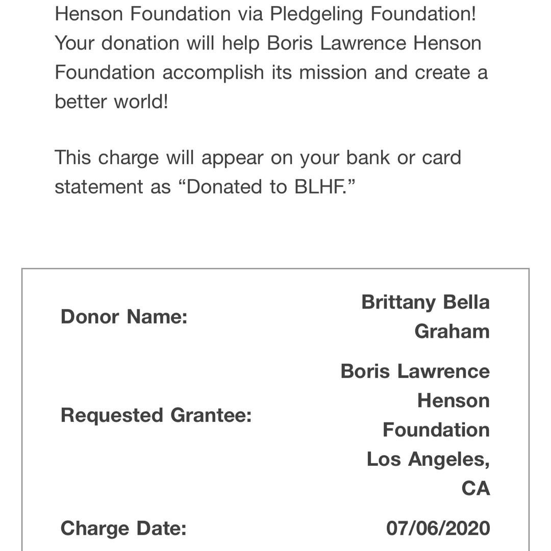 2020 Charity Donation - Black Women Dese