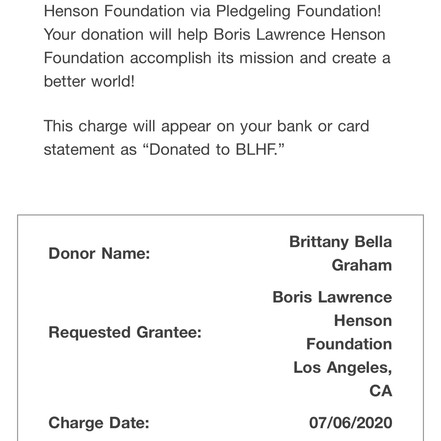 2020 Charity Donation - Black Women Dese