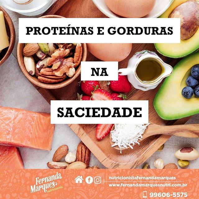 Proteínas e gorduras na saciedade