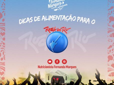 Dicas de alimentação para o Rock in Rio!