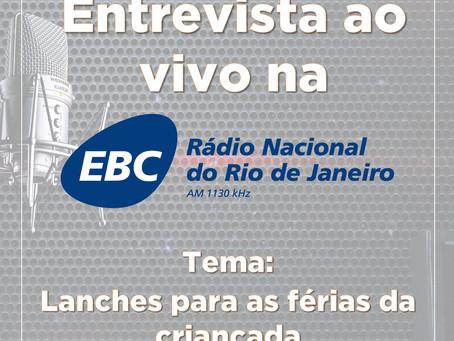 Entrevista na Rádio Nacional