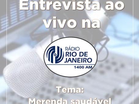 Entrevista na Rádio Rio de Janeiro