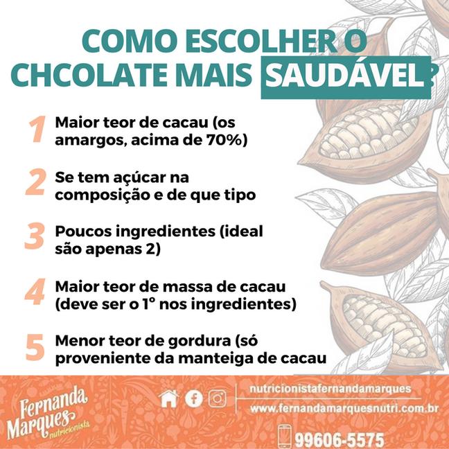 Como escolher o chocolate mais saudável