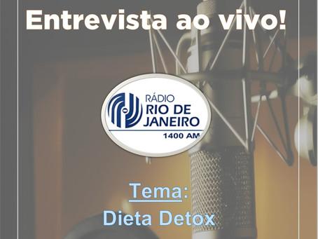 Entrevista ao vivo na Rádio Relógio.