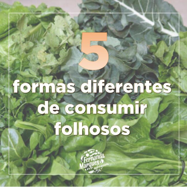5 formas diferentes de consumir folhosos