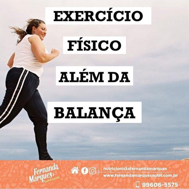 Exercício físico além da balança