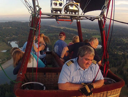 Everyone gets a window seat aboard or spacious balloon ride basket