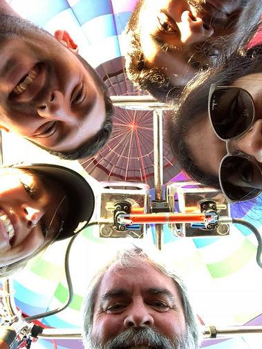 Balloon ride selfie