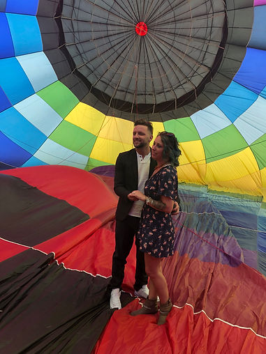 She said yes to wedding proposal inside hot air balloon ride