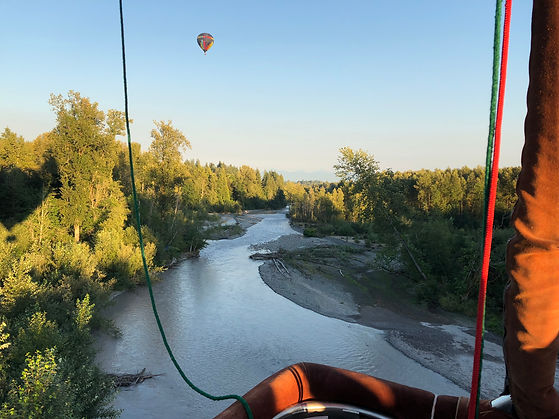 Scenic White River hot air balloon tour