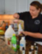 Veronica Madera making custom cleaning p