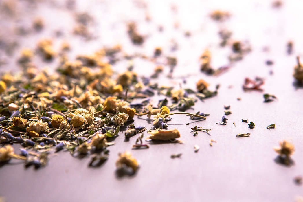 Beautiful tisane leaves tea