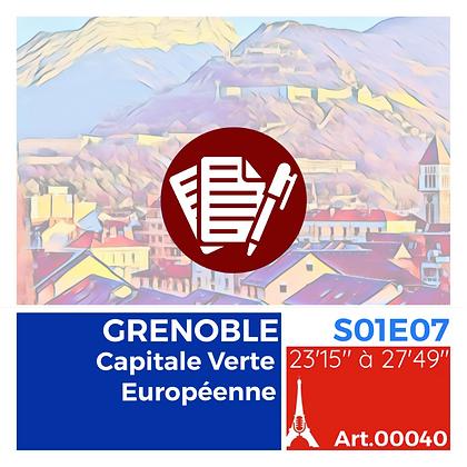 WS-S01E07A00040 GRENOBLE, Capitale Verte Européenne