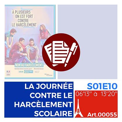 WS-S01E10A00055 LA JOURNÉE CONTRE LE HARCÈLEMENT SCOLAIRE