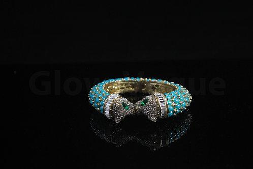 Blue Snake Rinestones Bangle
