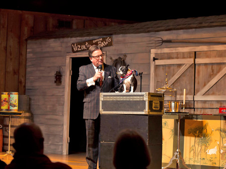 Todd Oliver and his talking dog Irving return to Branson