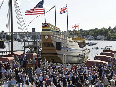 Its $11M makeover complete, the Mayflower II is sailing home
