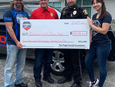 Benefit the Badge shares donations around the Tri-Lakes