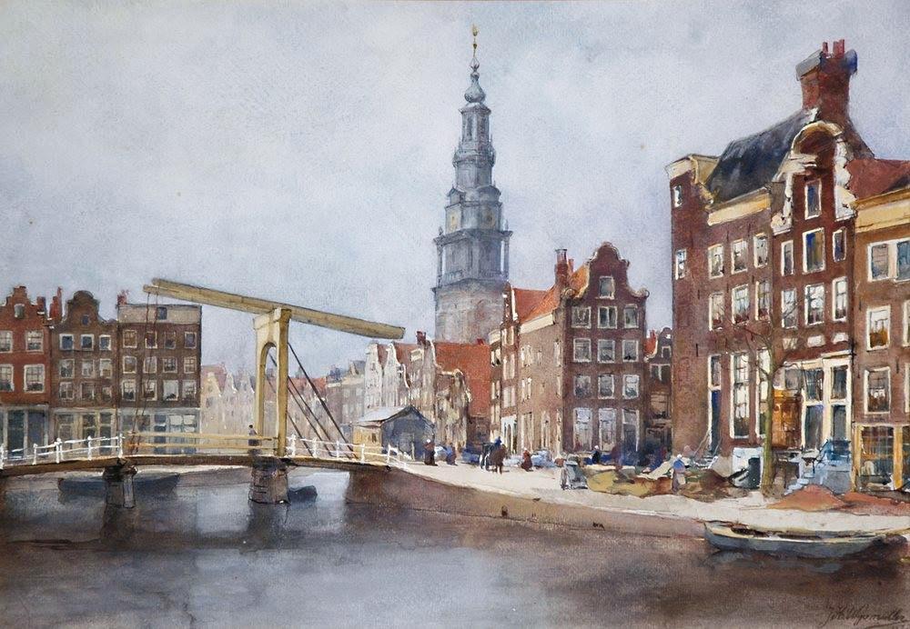 De Houtgracht gezien naar de Zwanenburgwal en de Raamgracht
