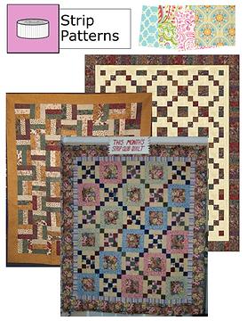 "Original quilt patterns for 2 1/2"" strips"