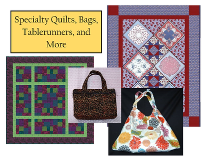 Original Patterns for bags, tablerunners, and more