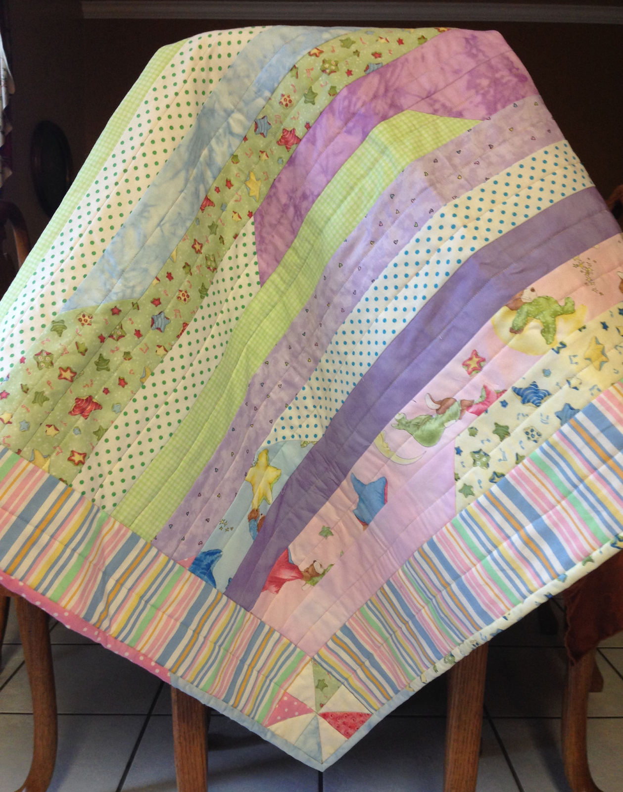 Strip Race Quilt - Baby Style