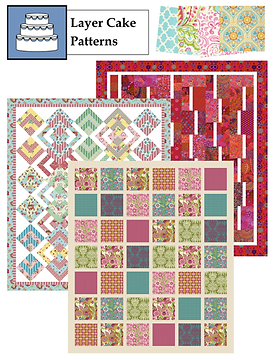"Original quilt patterns for 10"" square packs"