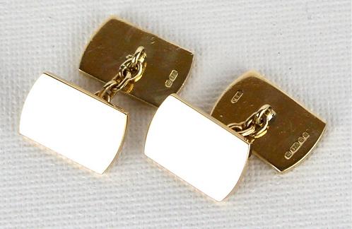 1987 9ct Gold Cufflinks